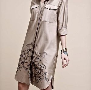 NWT Anthropologie Maeve Horse Trenchcoat